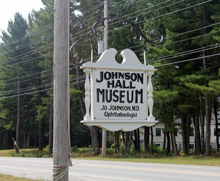 Johnson Hall Museum Sign