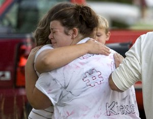 The family grieves as they are given the news regarding today's fatal accident.