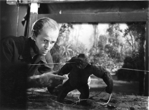 Harryhausen Animating Mighty Joe Young
