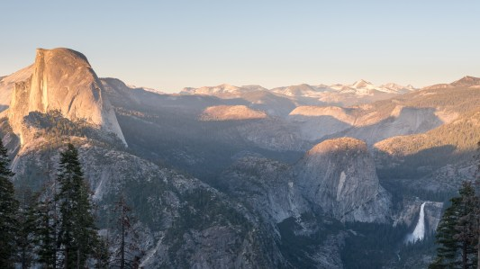 Half Dome and Nevada Fall from Glacier Point