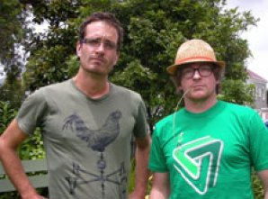 Cryptozoologists David Farrier and Rhys Darby