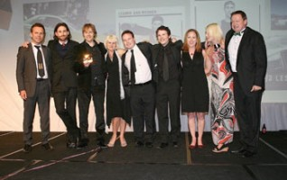 HB's Martin Bell (far left) presented Colenso the award for most effective agency
