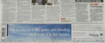 Tax avoidance is like under arm bowling