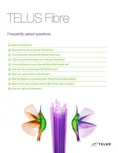 TELUS Fibre FAQ list