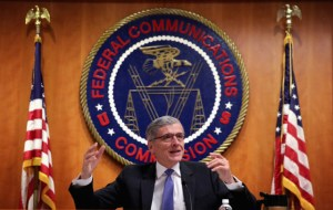 WASHINGTON, DC - MAY 15: Federal Communications Commission (FCC) Chairman Tom Wheeler speaks during an open meeting to receive public comment on proposed open Internet notice of proposed rulemaking and spectrum auctions May 15, 2014 at the FCC headquarters in Washington, DC. The FCC has voted in favor of a proposal to reform net neutrality and could allow Internet service providers to charge for faster and higher-quality service. (Photo by Alex Wong/Getty Images)