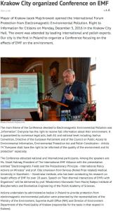 Krakow EMF Conference 2016