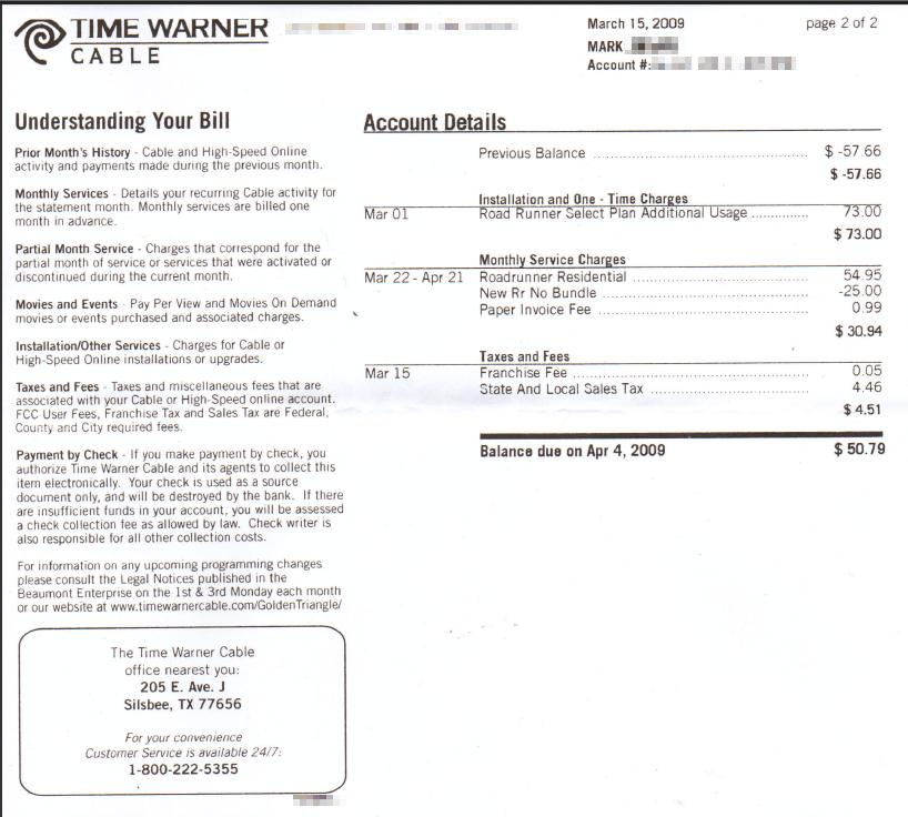Time Warner Cable Texas Phone Number: Texas Customer Goes to War With Time Warner Cable 6 AT6T Over rh:stopthecap.com,Design