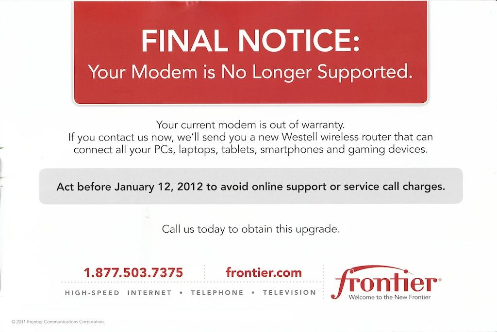 Frontier Gouges Customers With New, Mandatory Modem Fee (Even If You ...