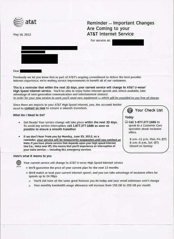 Stop The Cap ATampT Forcing Some DSL Customers To Upgrade