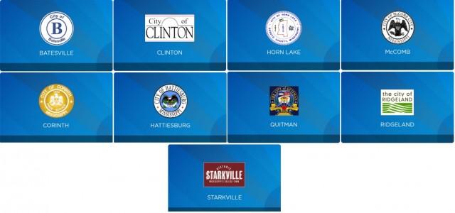 The nine finalists for C Spire's gigabit broadband network.