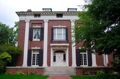 The Hiram Sibley House, constructed in 1869, still stands today at 400 East Ave, Rochester, N.Y.