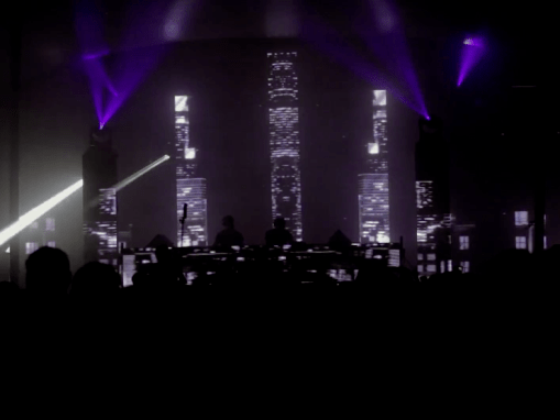 LIVE VISUALS CITYSCAPE MAPPING