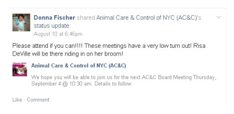 Homeless Pets - NYC AC&C board meeting