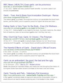 Message - Foods toxic garlic