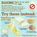 Vegan - foods egg chicken substitutes in recipes
