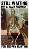 Trophy hunters - Waiting skeleton 06 sitting back in chair