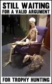 Trophy hunters - Waiting skeleton 07 armchair