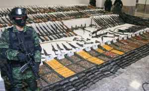En la reciente década, 96% de las armas incautadas en México entraron desde EU