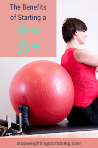 A woman placed against a stability ball. The Benefits of Starting a Home Gym | A Few Basic Steps to Get Started