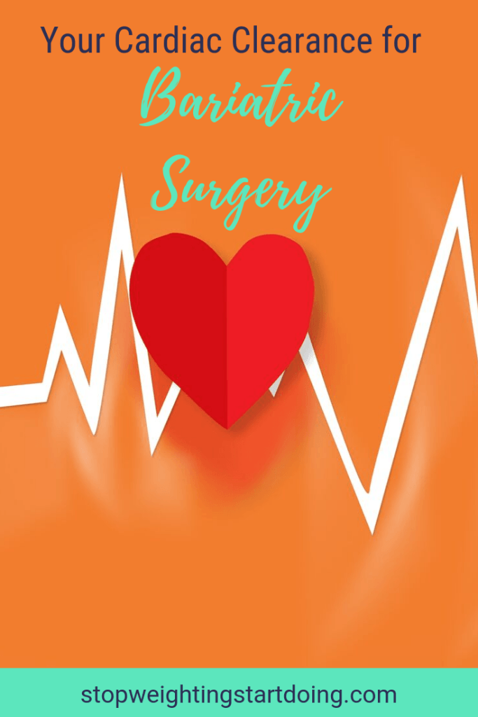 Heart beats with a red heart on a yellow background. Your Cardiac Clearance for Bariatric Surgery | What to Expect at Your Appointment. | Pinterest Image