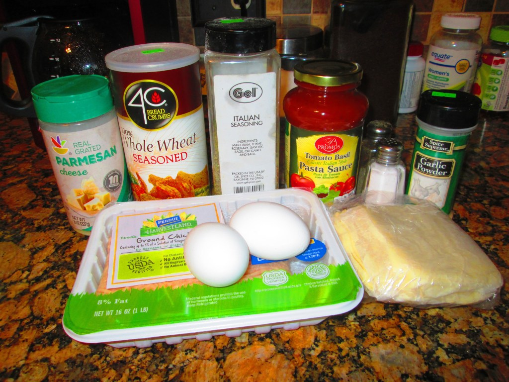 Ingredients for chicken meatballs. Soft Foods Diet: Post-Bariatric Surgery