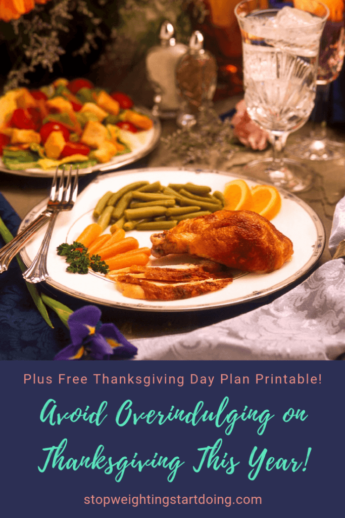 A Thanskgiving Day plate consisting of turkey, carrots, green beans and orange slices. | Avoid Overindulging on Thanksgiving This Year | Create Your Plan Today!