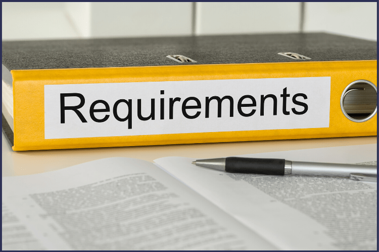 A yellow binder with the word Requirements on it in front of a document with a pen | Here is My Complete List of Weight Loss Surgery Requirements | Bariatrics | Image | Requirements for Weight Loss Surgery, Bariatric Surgery Requirements, Gastric Sleeve Requirements