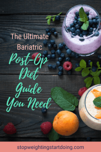 Yogurt containers filled with blueberries and peaches. | The Ultimate Bariatric Post-Op Diet Guide You Need | Progressive Diet | Graphic | Grocery Lists, high protein foods, bariatric liquid diet