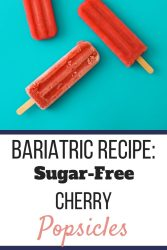 Sugar-free cherry popsicles against a blue background. | The Best Way to Survive the Clear Liquid Diet | Post Bariatric Surgery | Graphic | How to survive the clear liquid diet, clear liquid diet PDF, clear liquid diet for weight loss, Clear liquid diet ideas