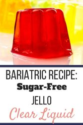 A red Jello mold in the front with an orange and yellow Jello cup in the background. | The Best Way to Survive the Clear Liquid Diet | Post Bariatric Surgery | Graphic | How to survive the clear liquid diet, clear liquid diet PDF, clear liquid diet for weight loss, Clear liquid diet ideas