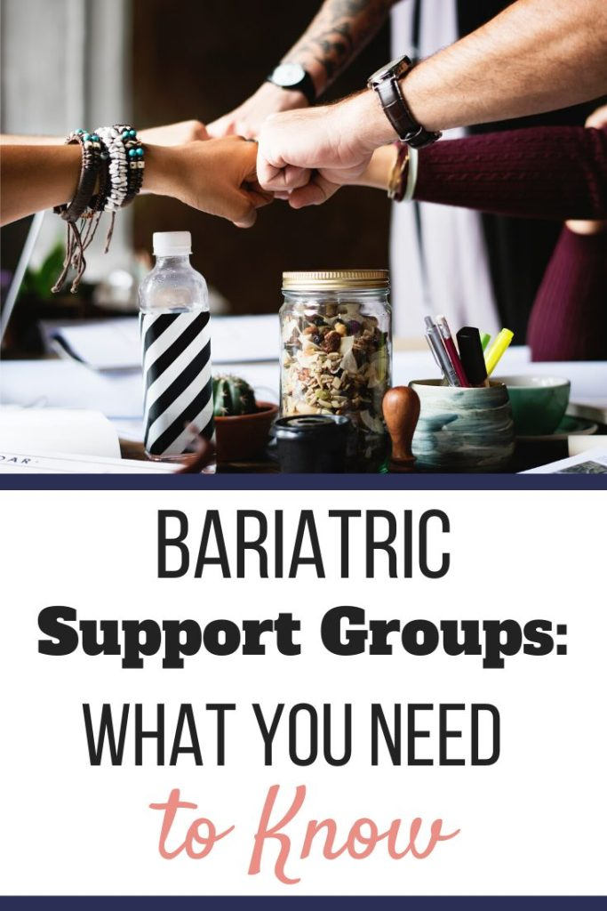 Multiple hands fist bumping in solidarity at a conference table | | Bariatric Support Groups: What You Need to Know | In Person or Online | Graphic | bariatric support group, bariatric forums, bariatric support group ideas