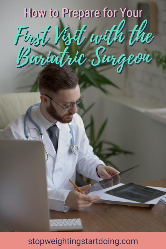 A doctor looking at Xray images at his office. How to Prepare For Your First Visit with the Bariatric Surgeon   Expectations   Graphic   bariatric surgery pre-op appointment, how to prepare for a bariatric consult, bariatric surgery timeline