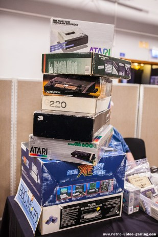 Boxed vintage computers for sale at Retro Gathering