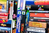 Tetris games closeup