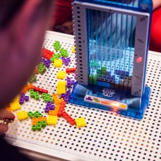 Tetris 3D Tower closeup