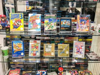 Complete NES SCN collection on display at Stockholms Gaming museum