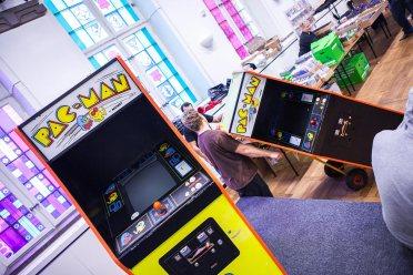 Pac-Man arcade cabinets