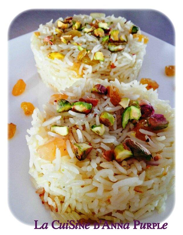 riz pilaf pistaches et raisins secs blonds - LA CUISINE DANNA PURPLE (2)