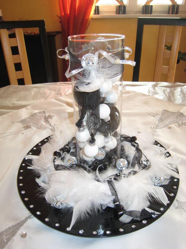 dco de table noir et blanc with decoration de table de noel blanche