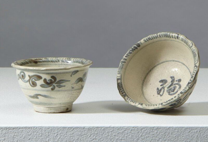Deux tasses, Vietnam, fours de Chu Đậu, dynastie des Lê, 15°-16°siècle