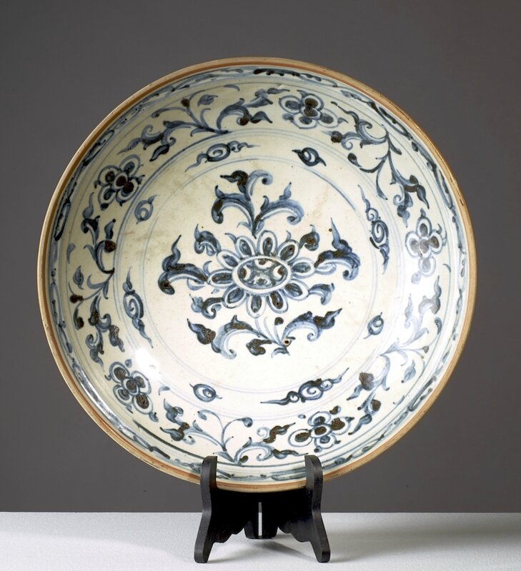Grand plat, Vietnam, dynastie des Lê, 15°-16° siècles