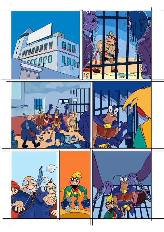étape 02 couleurs page 11 Blateman et Bobine T1