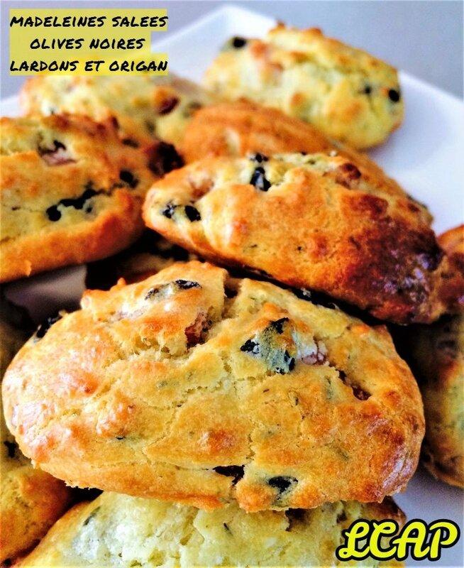 madeleines salées olives noires lardons et origan - LA CUISINE DANNA PURPLE (1)