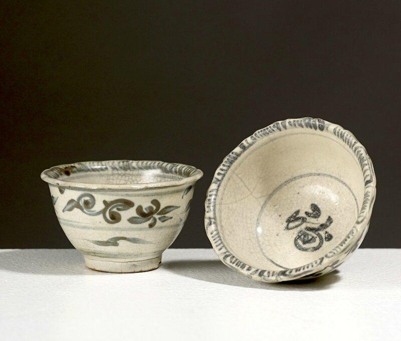 Deux tasses, Vietnam, dynastie des Lê