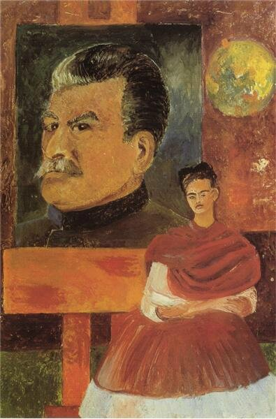 self-portrait-with-stalin-1954