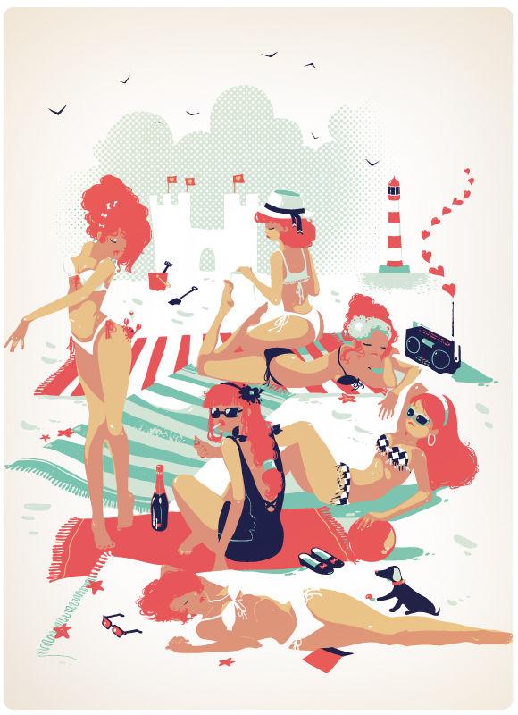 Ludovic Jacqz - Les rouquines de la plage