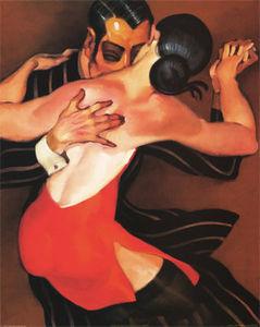 JM072Y_Femme_au_Robe_Rouge_Posters