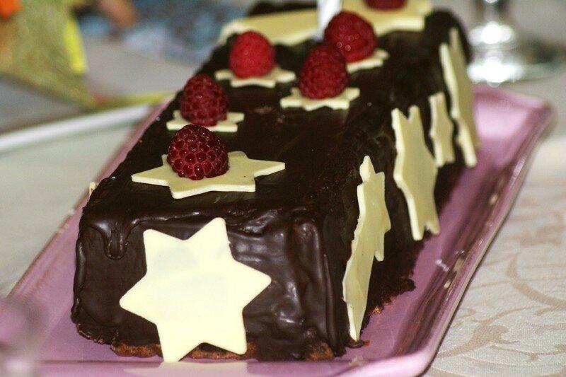 Buche de noel au chocolat sans gluten