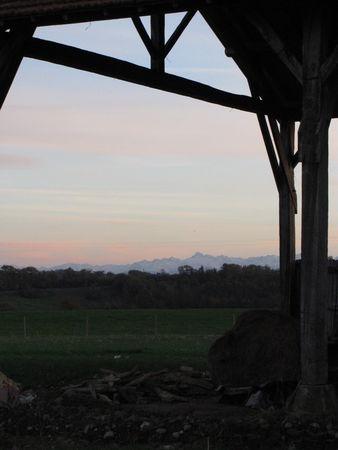 47367212 p Le Pic du midi, la Campagne du Gers, Arrouède en hiver