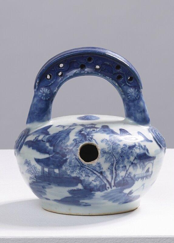 Pot à chaux, Chine pour le Vietnam, Bleu de Huế, 19°siècle